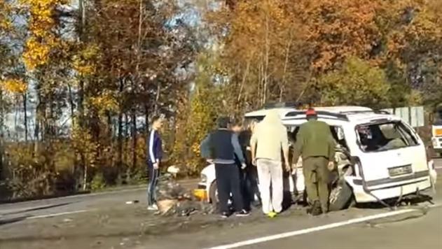 В Смолевичском районе столкнулись Opel и Subaru: есть жертвы