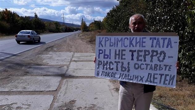 В Крыму массовые задержания участников одиночных пикетов