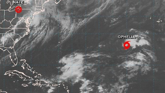 В Атлантическом океане сформировался шторм Офелия