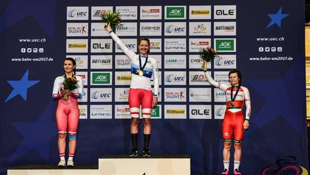 Белоруска Татьяна Шаракова выиграла «бронзу» на ЧЕ по велотреку