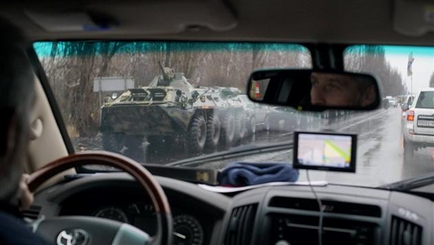ОБСЕ заметила колонну военной техники возле Луганска
