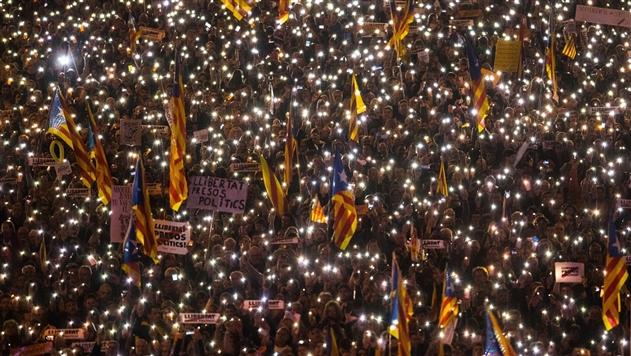 В Барселоне вышли на митинг 750 000 человек