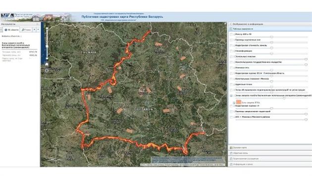 В Беларуси опубликовали карту запрещенных для полетов дронов зон