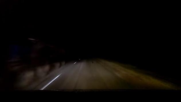 В Минском районе водитель заснял трактор-«невидимку» в темноте