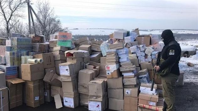 В «серой зоне» на Донбассе нашли сигареты на миллионы