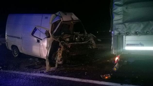 В Оршанском районе столкнулись микроавтобус и грузовик