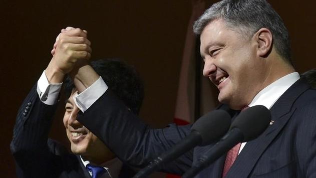 Порошенко надеется, что Япония поможет с миротворцами на Донбассе