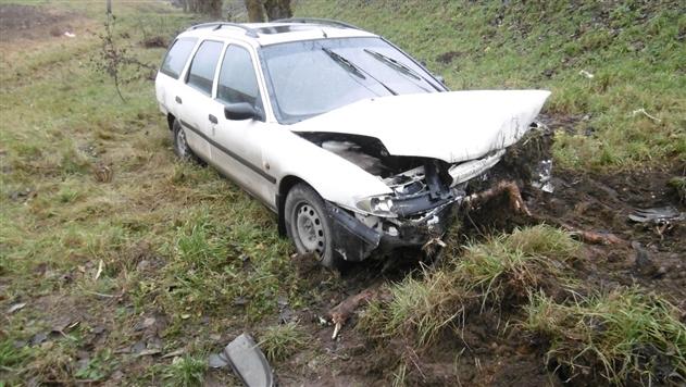 Под Минском женщина с двумя детьми в машине вылетела в кювет