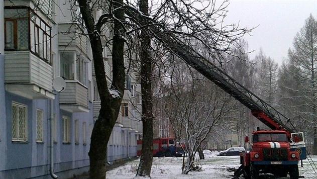В Новополоцке на пожаре спасли трехмесячного ребенка, его мать и бабушку