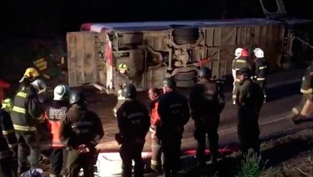 В Чили перевернулся туристический автобус: 11 погибших