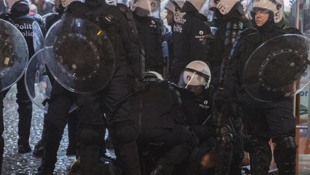 В Брюсселе произошли массовые беспорядки: полиция задержала 16 человек