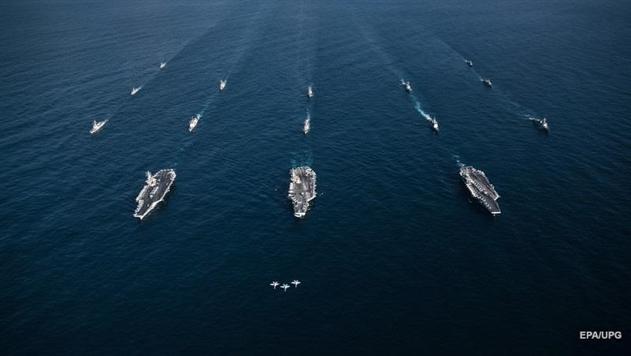 Появилось видео с авианосцами США у берегов Кореи