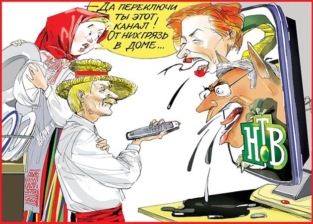 «СБ. Беларусь сегодня» опубликовала карикатуру на российское НТВ