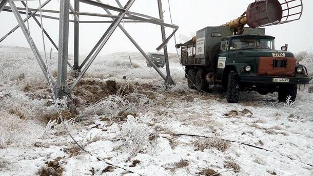 Более 30 населенных пунктов обесточены в Украине