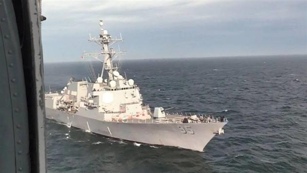Авиация Украины провела тренировку с эсминцем США