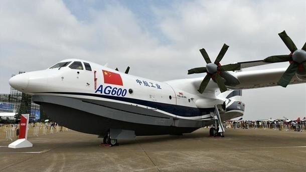 В Китае испытали крупнейший в мире самолет-амфибию