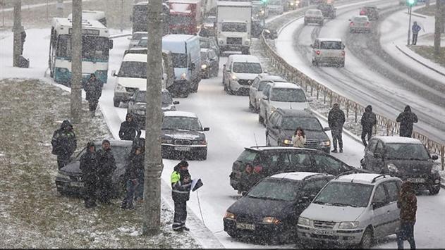 В Гродно на кольцевой дороге столкнулись 14 автомобилей
