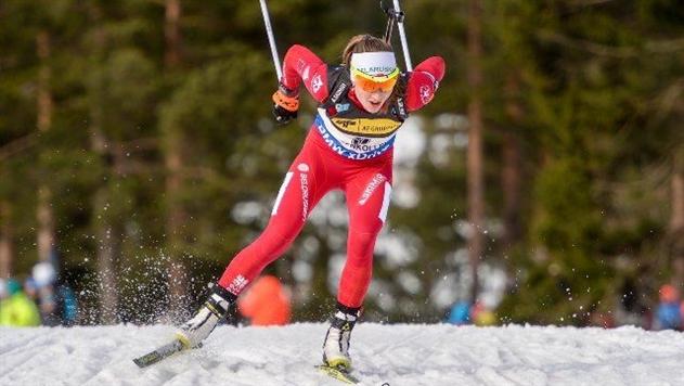 Домрачева заняла 1-е место в спринте на этапе Кубка мира в Хохфильцене
