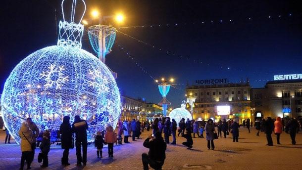На Новый год на праздничных площадках в Минске организуют пропускной режим