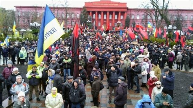 В Киеве начался марш в поддержку Саакашвили