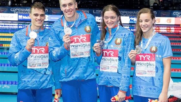 Белорусские пловцы выиграли серебро ЧЕ в смешанной комплексной эстафете